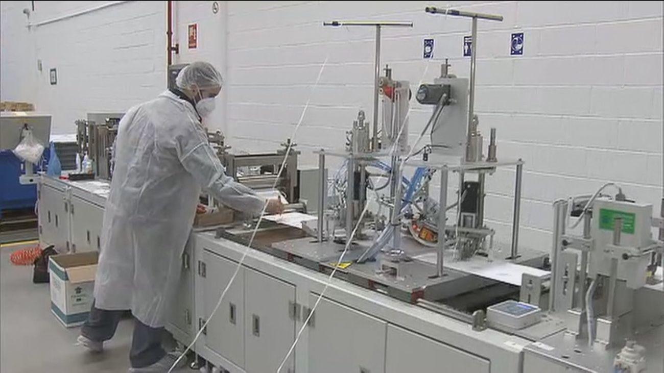 Fabrica de mascarillas FFP2 en Pinto