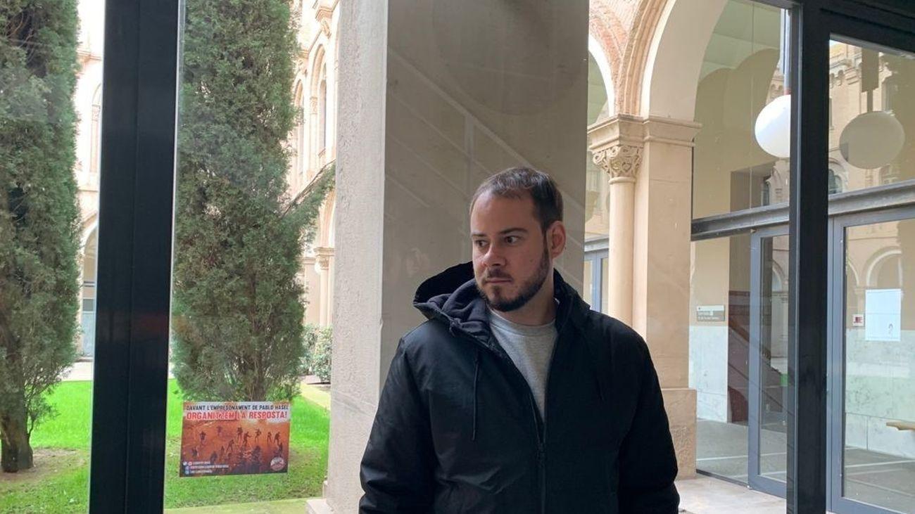 El rapero Pablo Hasel se 'atrinchera' en la Universidad de Lleida
