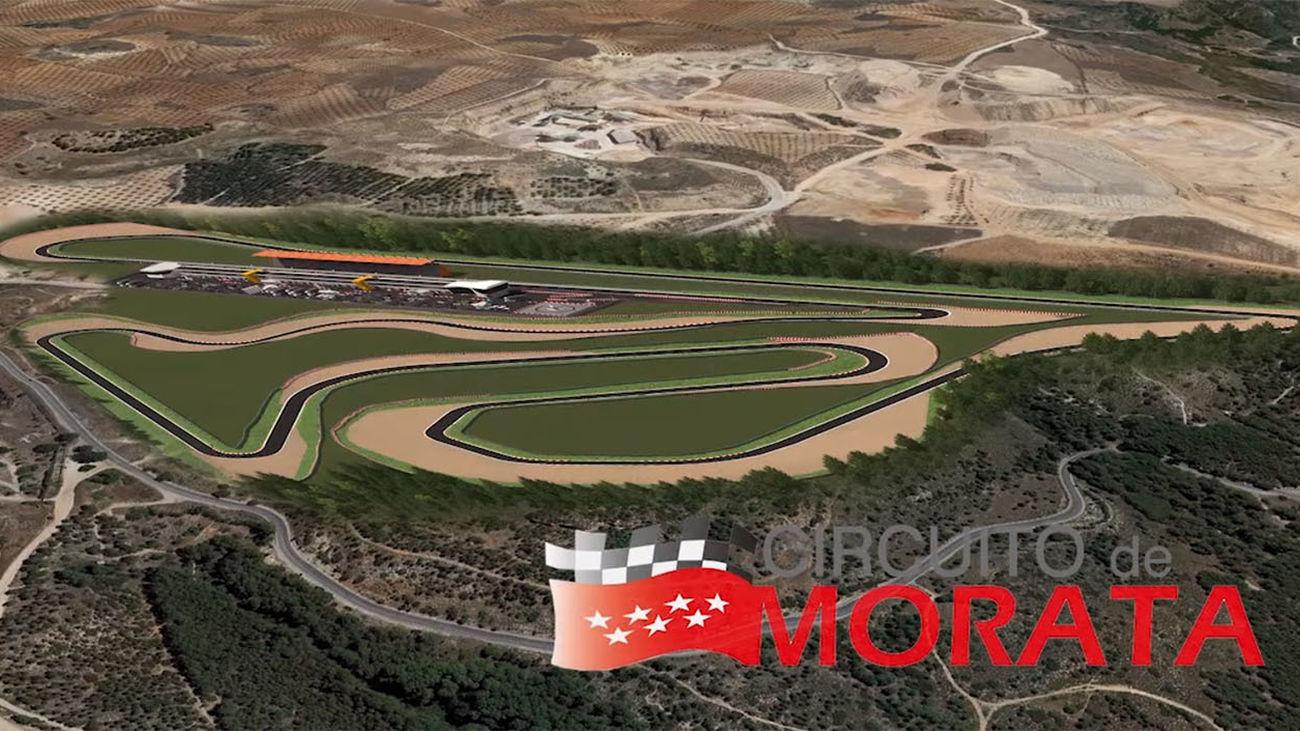 Simulación del futuro Circuito de Fórmula 1 y Motociclismo que en un futuro podría estar en Morata de Tajuña