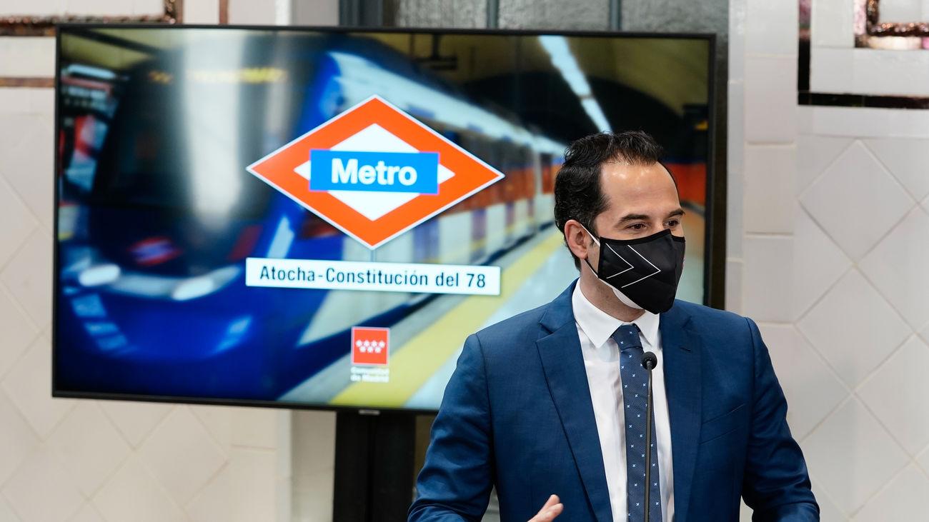 Aguado anuncia que la estación de Metro de Atocha Renfe pasará a denominarse Atocha Constitución del 78