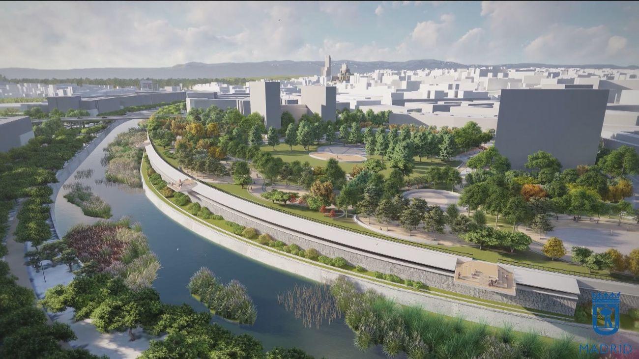 El entorno del Calderón tendrá un jardín sobre la M-30 que se cubrirá y no se soterrará