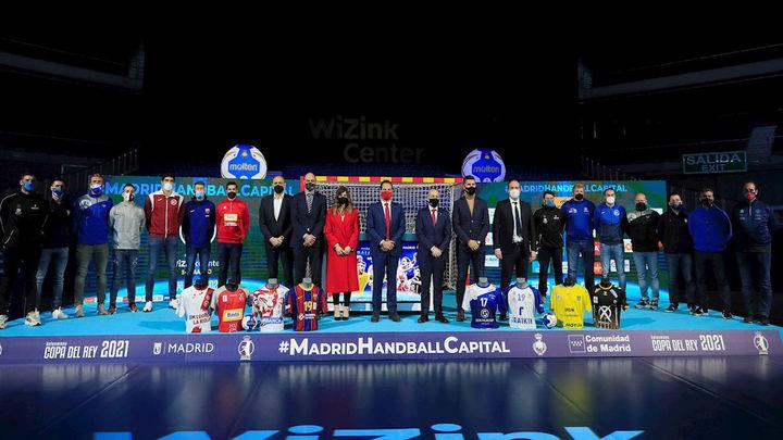 Sorteados los cuartos de la Copa de balonmano que se disputará en Madrid con público