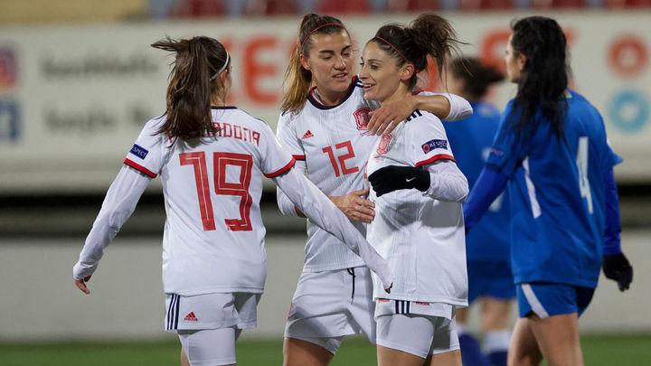 0-13. España se clasifica para la Eurocopa femenina tras golear a Azerbaiyán