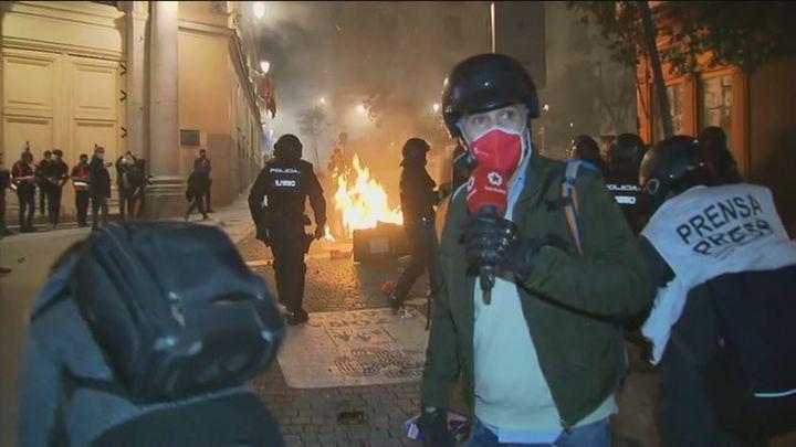 Así vivimos en Telemadrid la noche de violencia en la Puerta del Sol