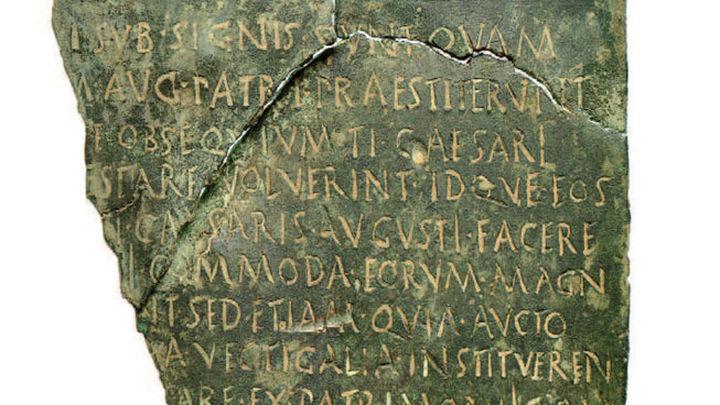 Recuperado en Madrid un documento romano de 2.000 años de antigüedad