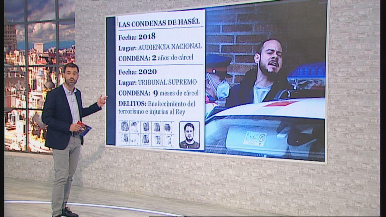 Este es el largo historial de condenas del rapero Pablo Hasél