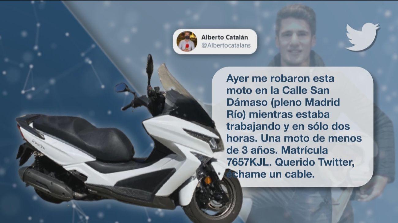 Nuestro compañero Alberto se hace viral al pedir ayudar para encontrar su moto robada