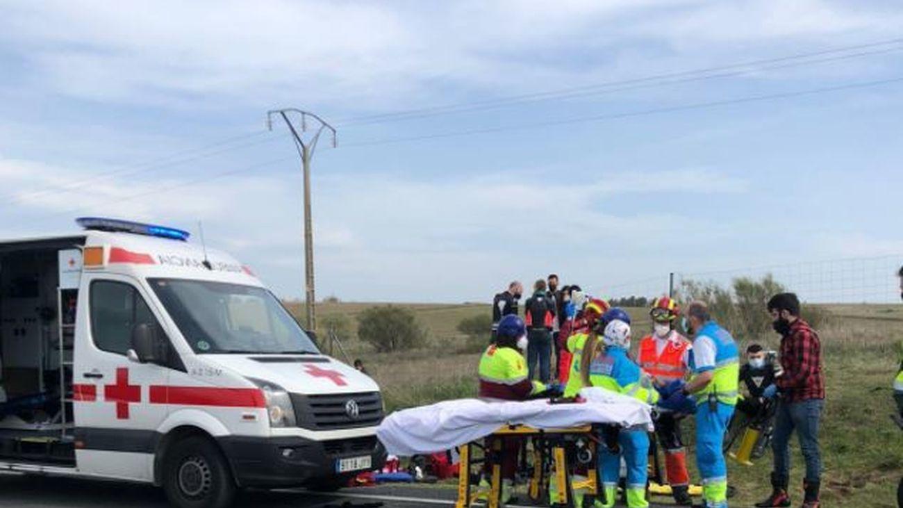 Heridos dos motoristas en un accidente de tráfico en la M-522 a la altura de Quijorna