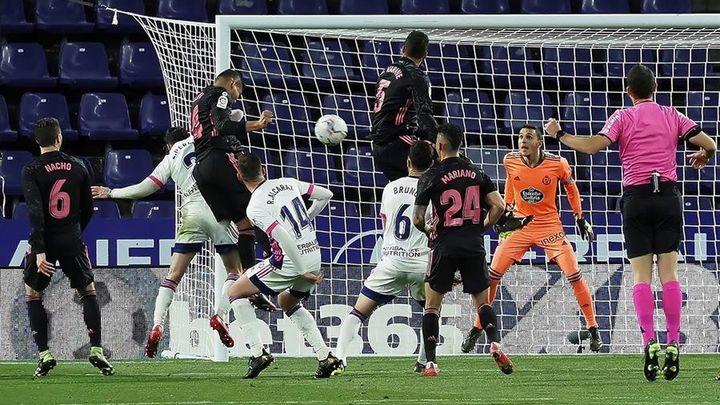 0-1. Victoria sufrida del Real Madrid ante el Valladolid