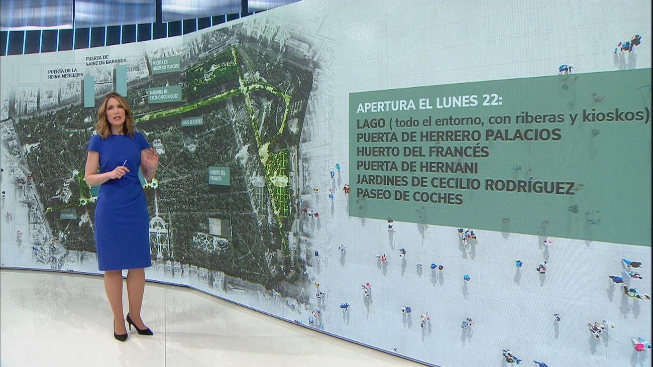 El 40% del Retiro abre sus puertas a los madrileños desde este lunes tras el paso de Filomena