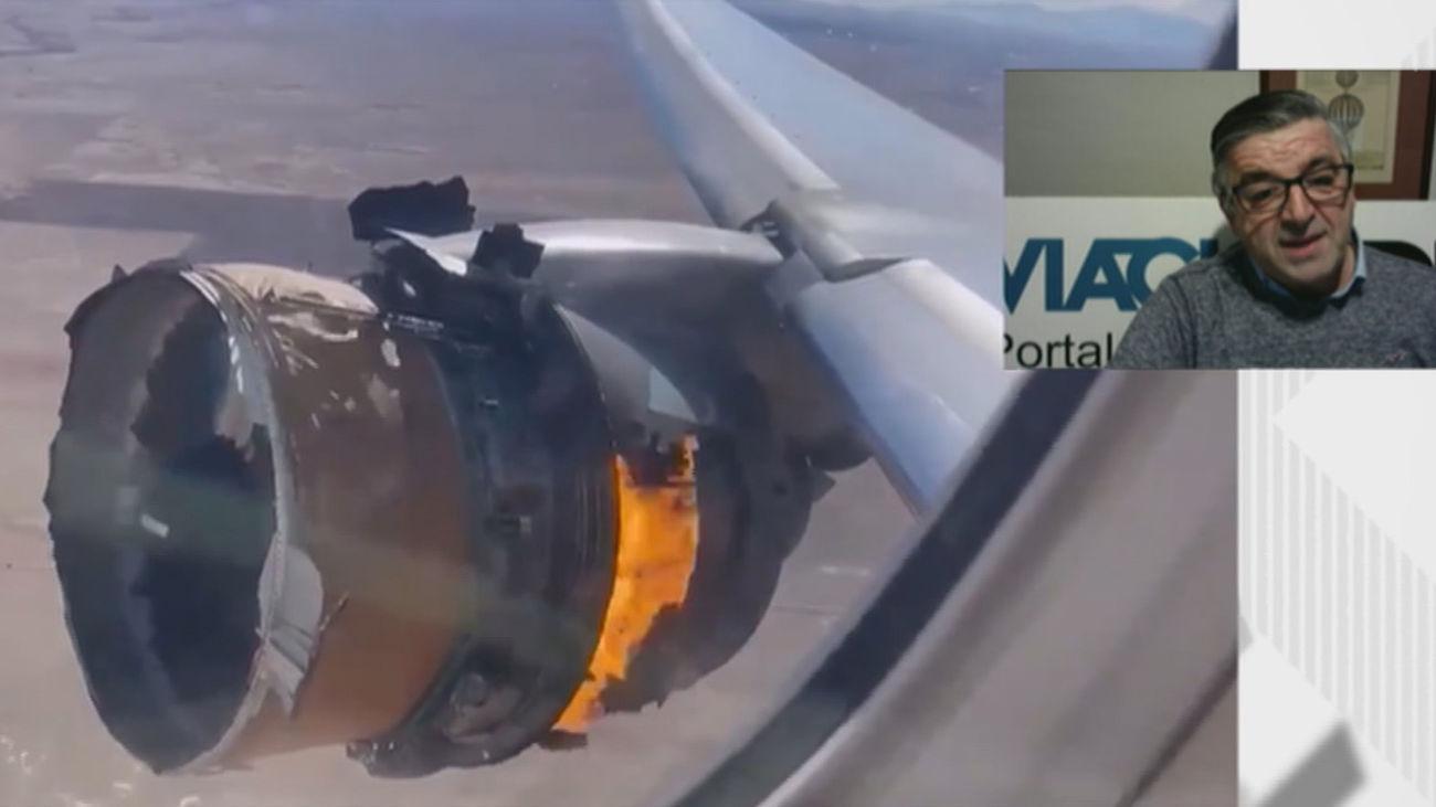 """Incidente de un avión en Denver: """"Los pilotos estamos entrenados para volar con un solo motor"""""""