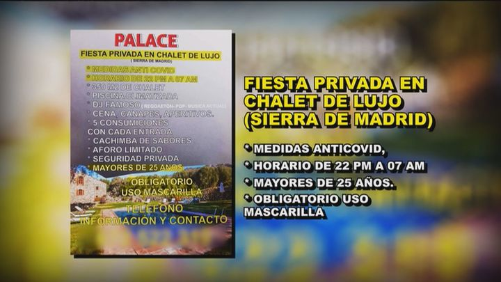 Anuncian una fiesta ilegal en un chalet de lujo en la sierra de Madrid