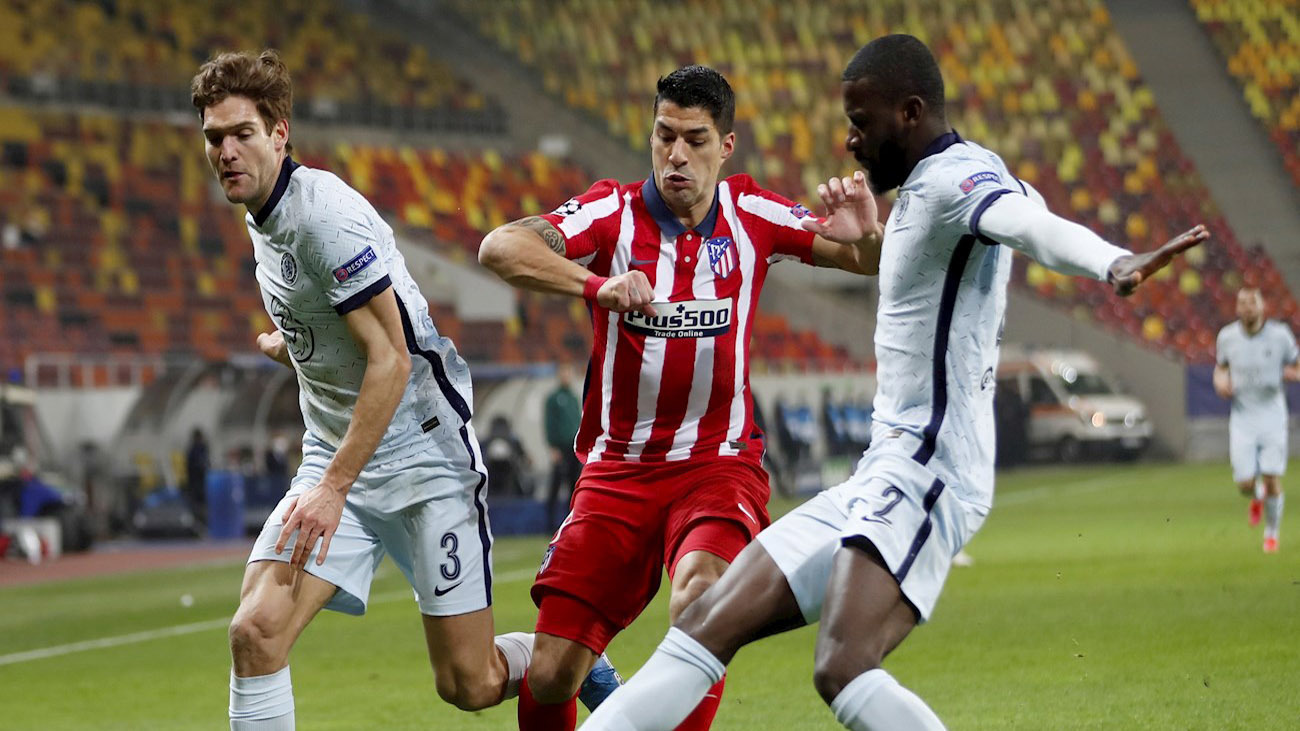 Luis Suárez ante el Chelsea