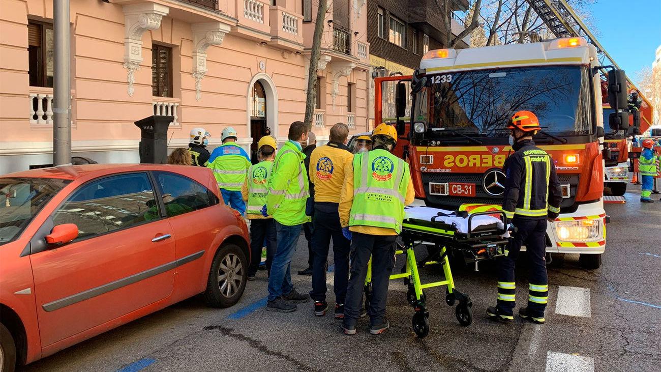 Muere un anciano de 93 años en el incendio de su casa cercana a Atocha
