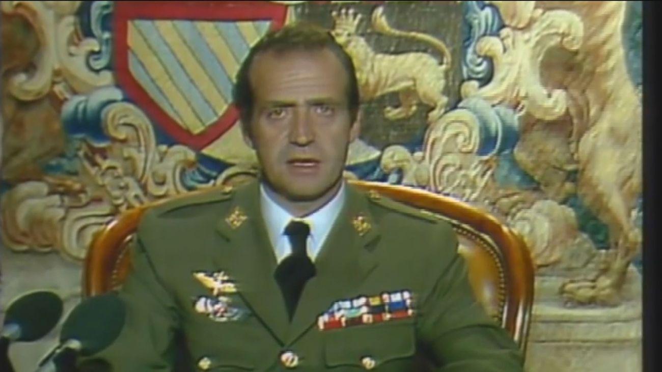 El rey Juan Carlos, el gran ausente del 40º aniversario del 23-F
