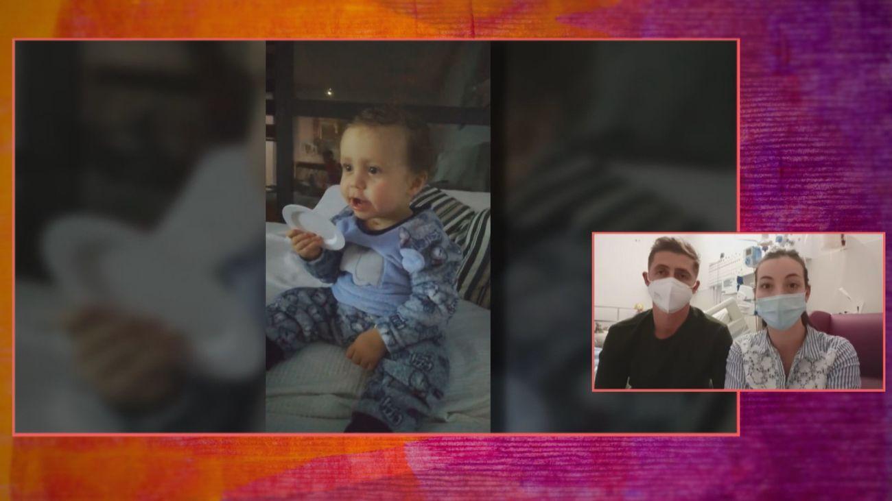 Hugo, de 15 meses, tiene una grave lesión cerebral al confundir su enfermedad con el coronavirus