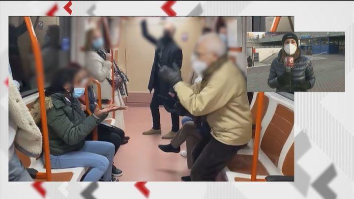 Hasta diez casos al día en el metro de Madrid de enfrentamientos por el mal uso de la mascarilla