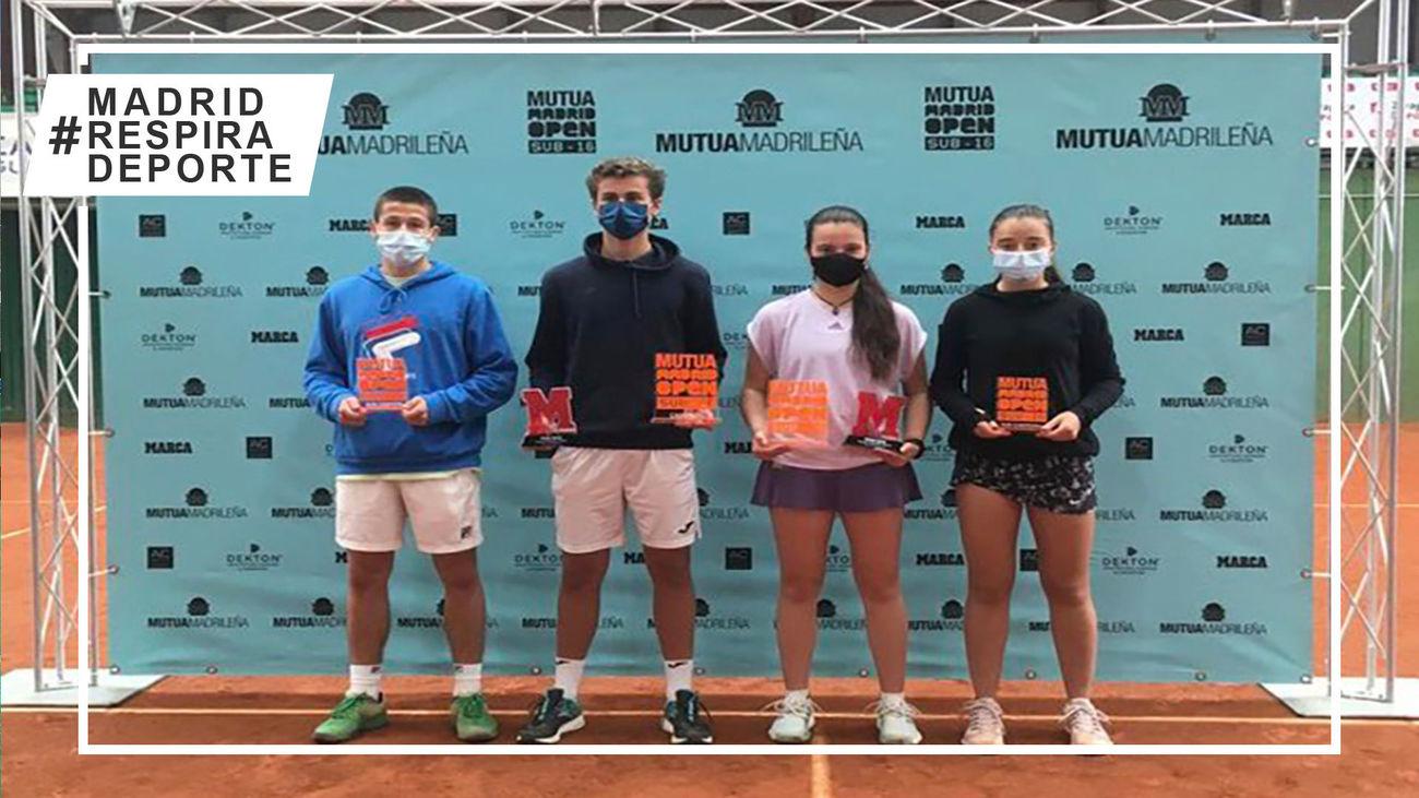 Campeones y finalistas del Mutua Madrid Open Sub'16