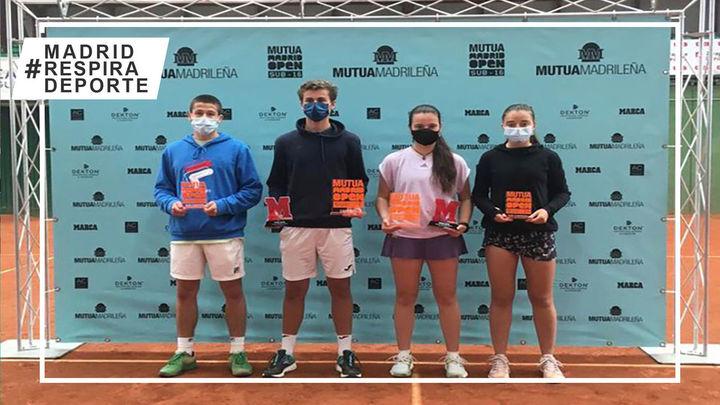 Victorias de Rafael Segado y Cristina Ramos en el segundo torneo del Mutua Madrid Open Sub'16