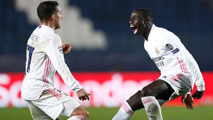 0-1. Mendy da la victoria al Real Madrid ante un Atalanta con diez jugadores