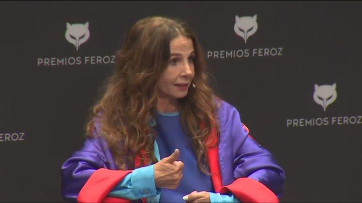 La actriz Victoria Abril aprovecha los Premios Feroz para dar un discurso 'negacionista'