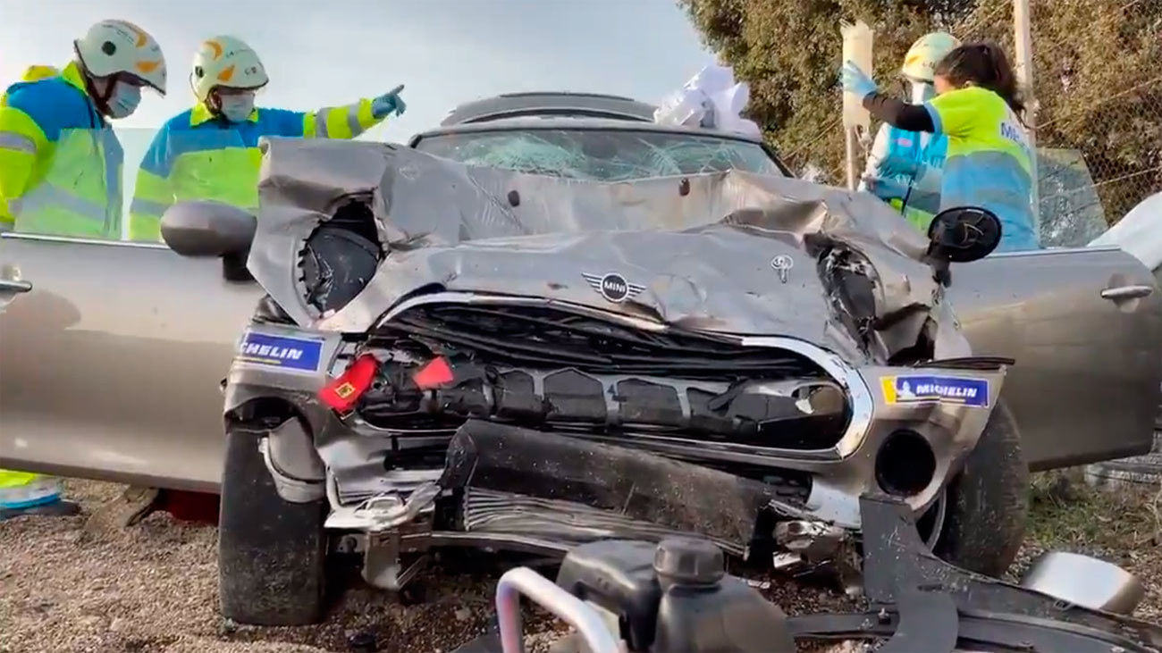 Accidente de tráfico en el Circuito del Jarama