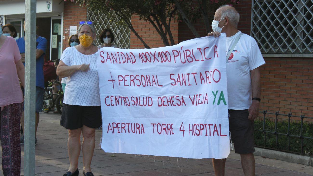 Protesta en San Sebastián de los Reyes para reclamar el centro de salud de Dehesa Vieja