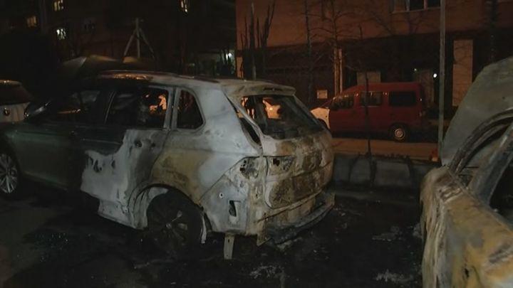 Varios coches quemados durante la madrugada en Pozuelo de Alarcón