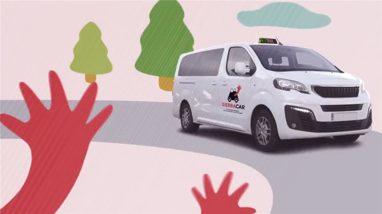 Así funciona el servicio de 'taxi a demanda' en la Sierra Norte de Madrid