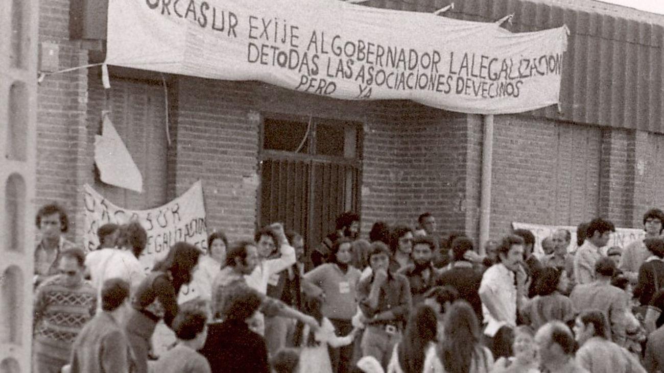 Fotografía de archivo de la asociación de vecinos de Orcasur