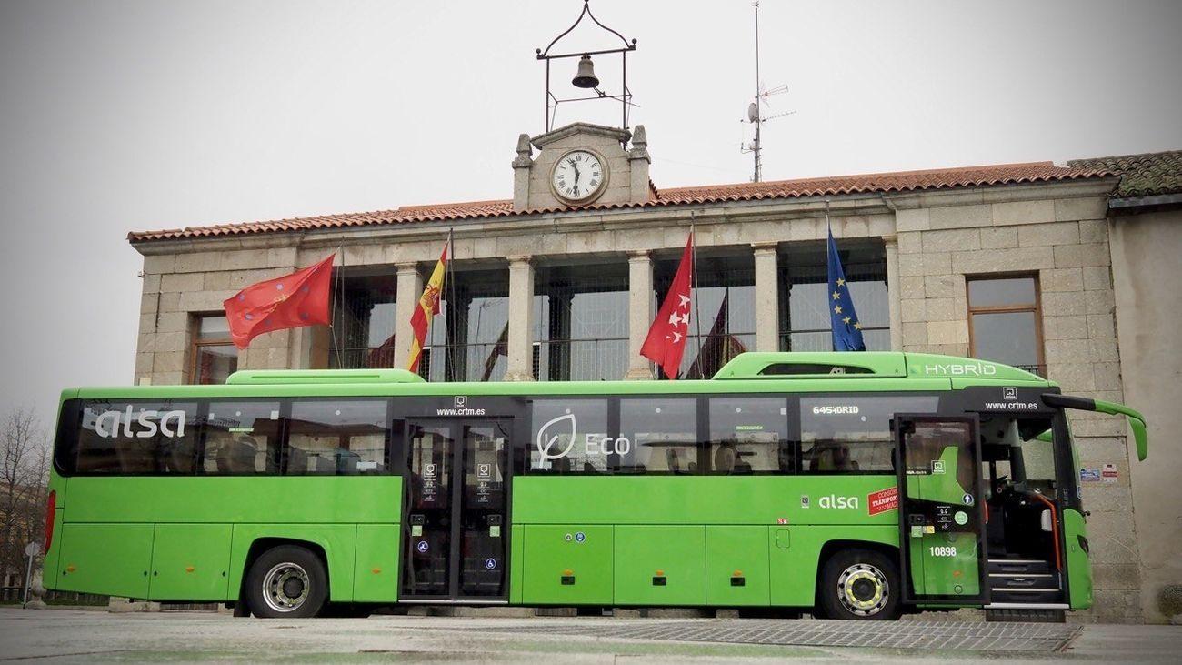 Reforzada la línea 645 que conecta Madrid con la sierra noroeste