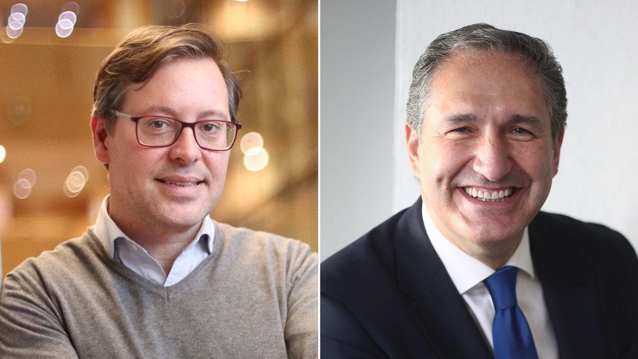 Alfonso Serrano y José Cepeda, portavoz del PP y portavoz adjunto del PSOE en la Asamblea de Madrid