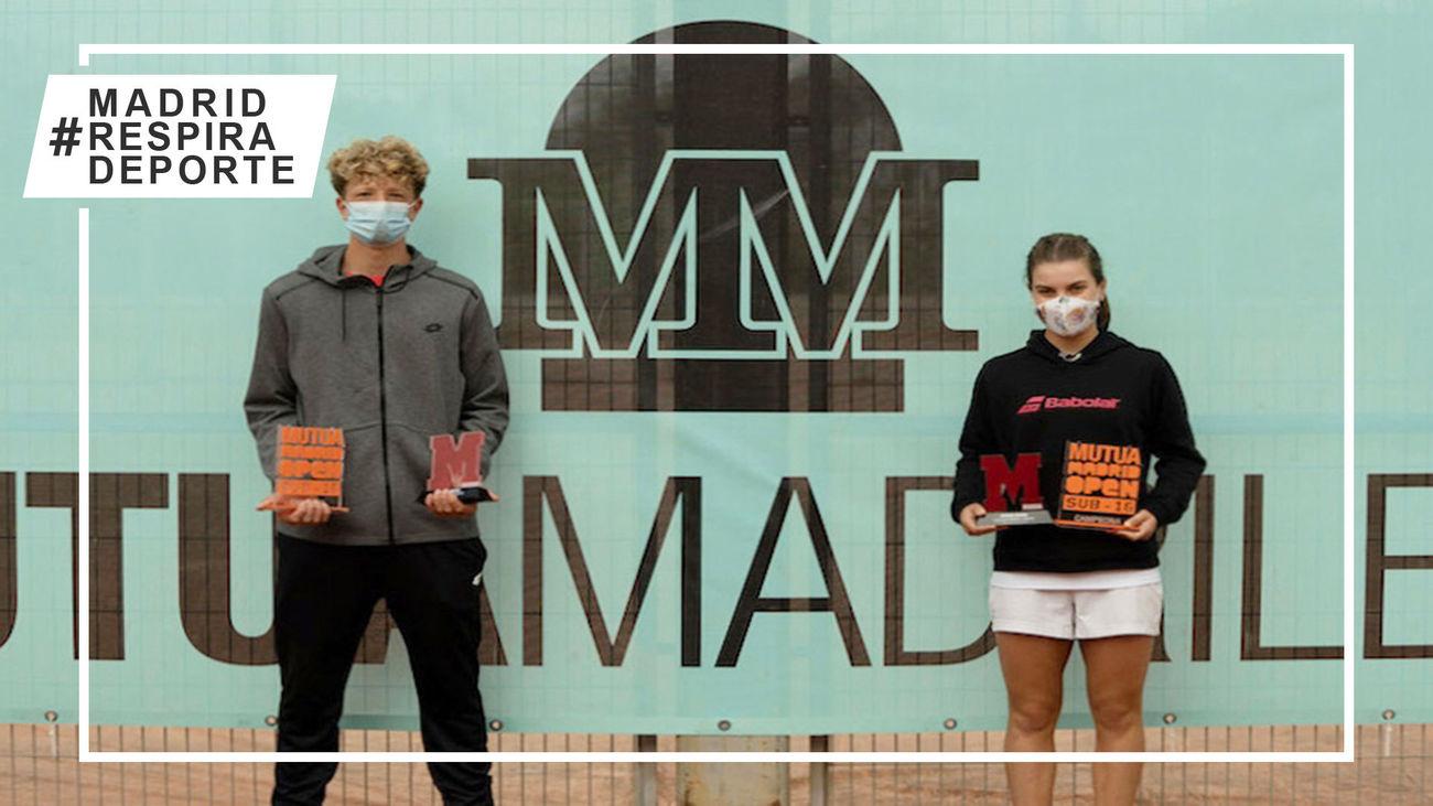Martín Landaluce y Marta Soriano ganan la prueba especial del Mutua Madrid Open Sub'16 en la Caja Mágica