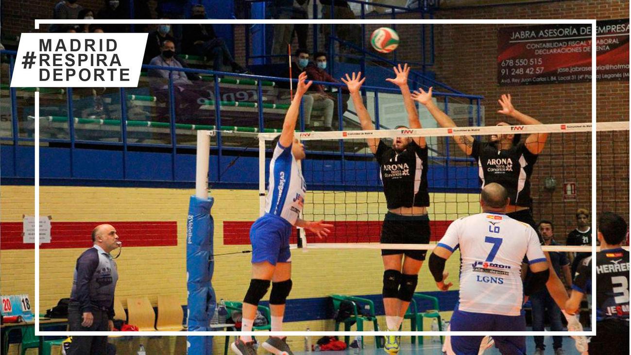 Voleibol Leganés pierde con el líder y está obligado a ganar en Málaga para clasificarse para la fase de ascenso