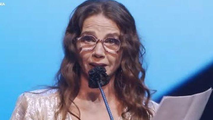 Victoria Abril, al recibir su Premio Feroz, pide disculpas por haber cuestionado las vacunas