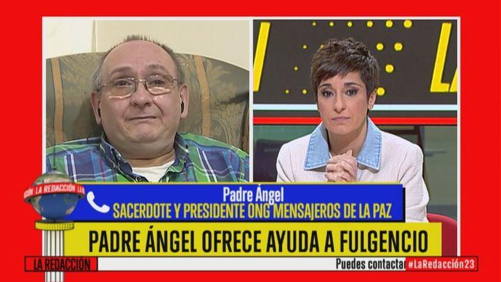 El Padre Ángel ofrece ayuda de Mensajeros de la Paz para Fulgencio tras verlo en 'La Redacción'