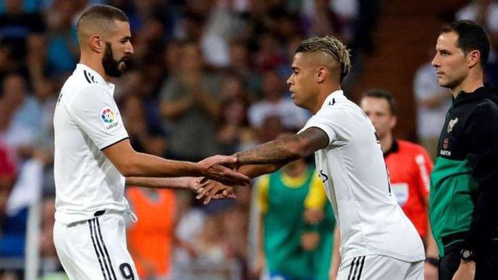 Mariano se lesiona mientras Benzema sigue entrenando en solitario