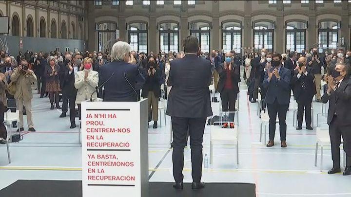 Los empresarios catalanes dicen '¡Basta ya!' en un manifiesto conjunto contra la violencia