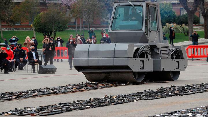 Simbólica destrucción en Madrid de 1.377 armas incautadas a ETA