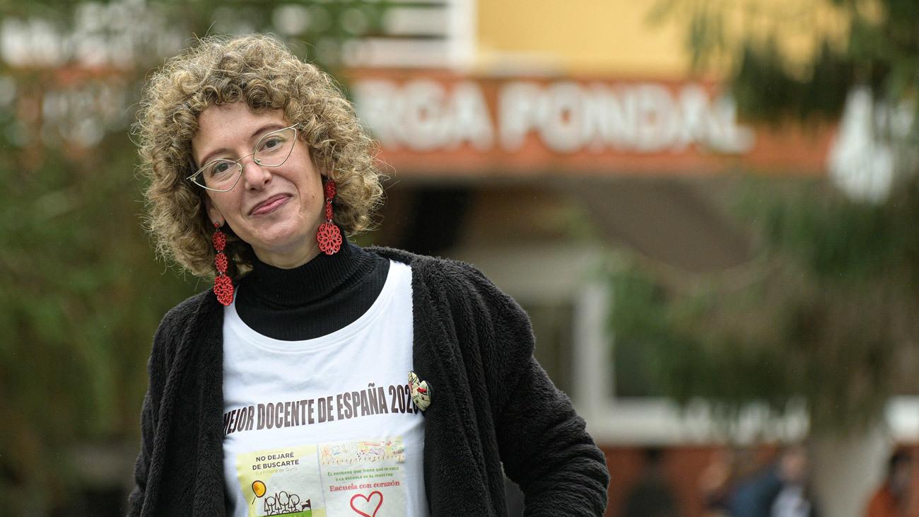 Retrato de la docente Alicia Tojeiro, reconocida como la mejor profesora de Primaria de España, en Oleiros (A Coruña)