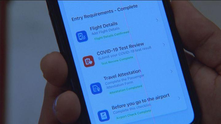 Pasaporte sanitario digital para los vuelos a Estados Unidos