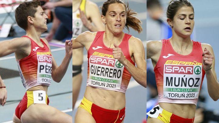 Guerrero, Marta Pérez y Águeda Muñoz, a la final de 1.500