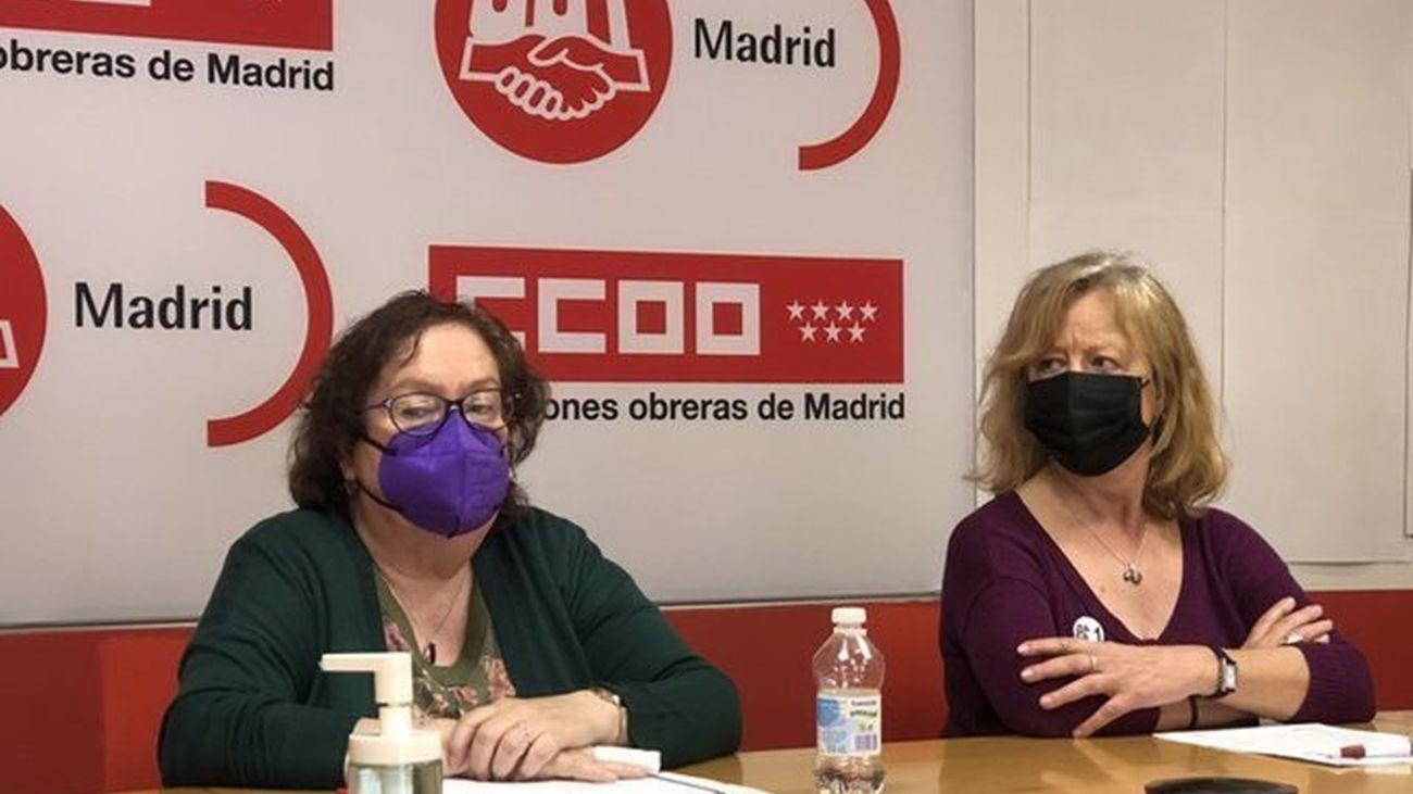 Representantes de UGT y Comisiones Obreras de Madrid