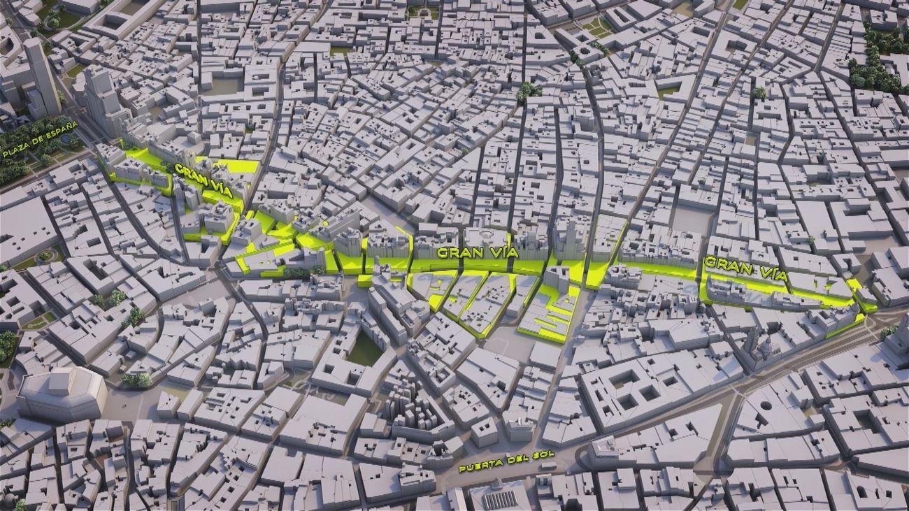 Así se construyó la Gran Vía de Madrid