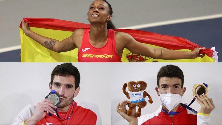 Peleteiro, plata en triple, Ureña en heptatlón y Mechaal bronce en 3.000