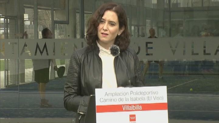 """Ayuso cree que el delegado del Gobierno en Madrid """"actúa correctamente"""" al prohibir las manifestaciones"""