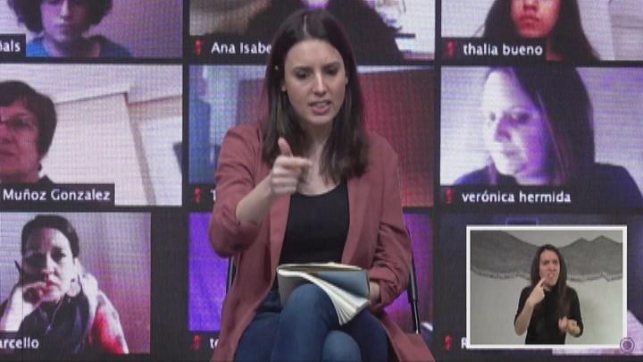 Montero dice que la fortaleza del feminismo no se medirá este año en la calle