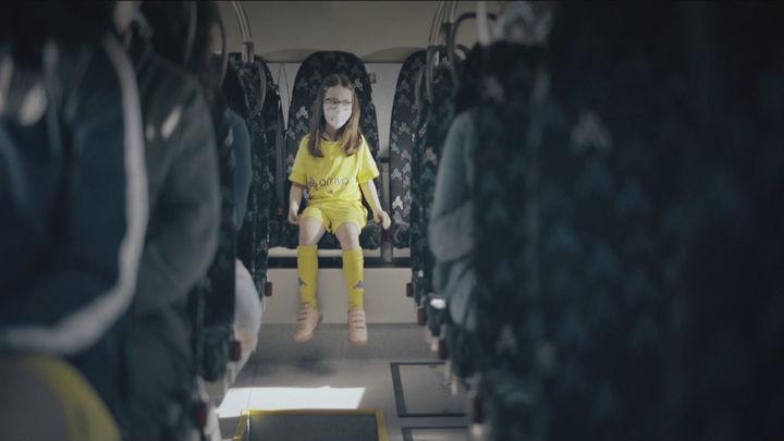 Lucía, la niña de la AD Alcorcón, protagonista de 'Tu destino lo eliges tú'