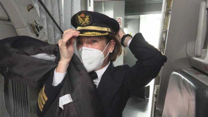 Miriam, comandante y mujer de altos vuelos