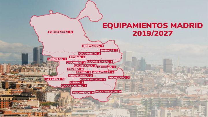 Madrid contará con 96 nuevos equipamientos municipales en los próximos 6 años